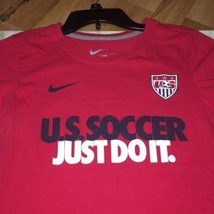 Nike u.s. Soccer just do it red tee  slim fit